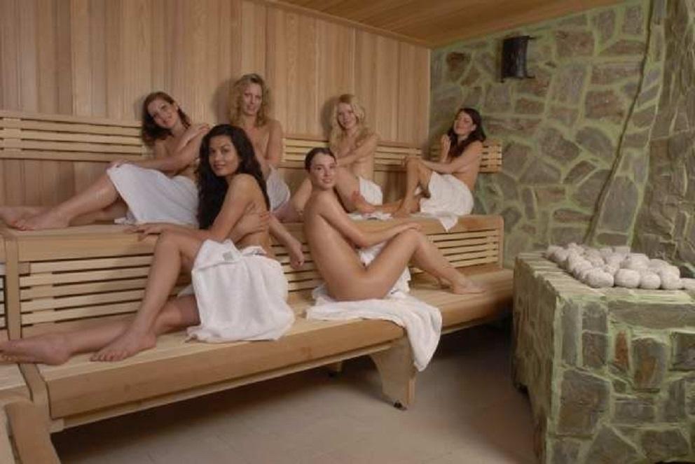 steamiest sauna scene: three girls get racy with each other  173735