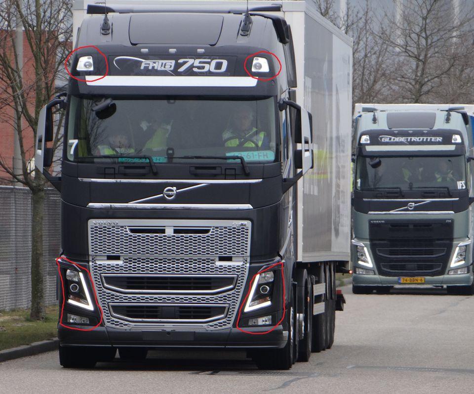 Volvo Fh16 750 2013 Headlights Model Scs Software