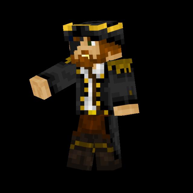 Captain Of Pirates Minecraft Skin - Skin para minecraft 1 8 9 pirata