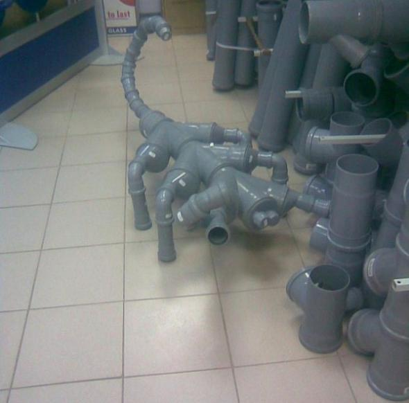 Робот из труб пвх своими руками фото 38