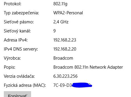 Podporované sieťové karty pre Lenovo G770
