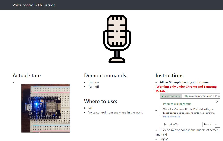 Voice control - Arduino - NodeMCU - ESP32 - Raspberry Pi
